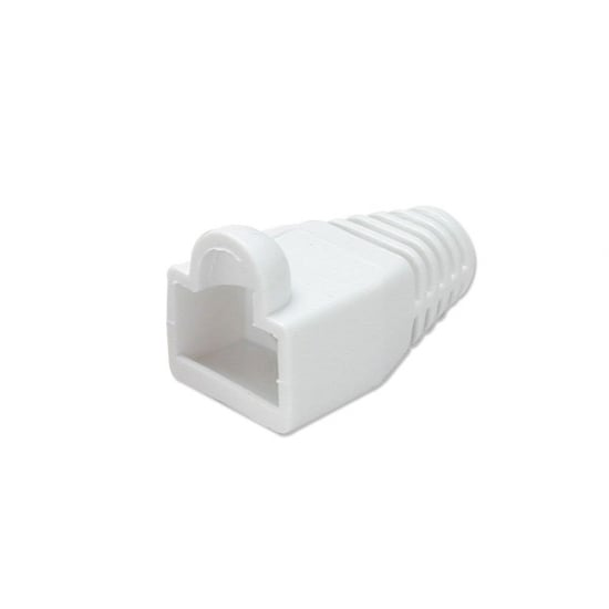 Pre-assembly RJ-45 Strain Relief Boot, White (10 per pack)