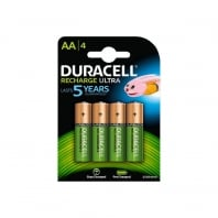 Precharged AA Rechargeable Duracell Batteries, (4 pack)
