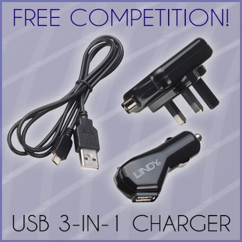 Win a LINDY 3-in-1 USB Micro-B Charging Kit