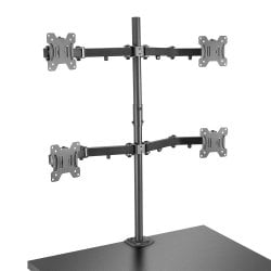 Quad Display Bracket with Pole and Desk Clamp