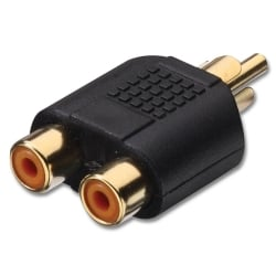 RCA/Phono Male to 2 x RCA/Phono Female Audio Adapter