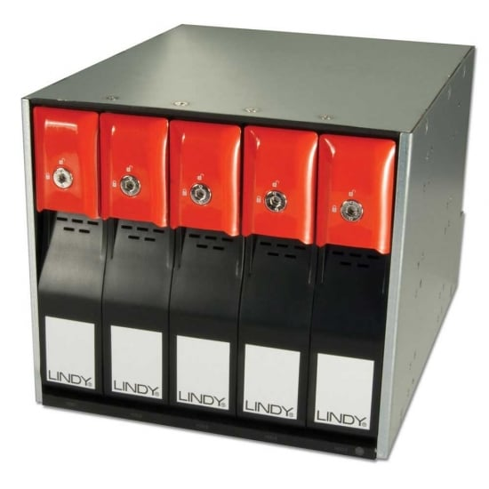 Removable RAID Back Plane System for 5 SAS / SATA Drives