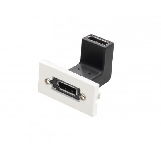 Right Angled DisplayPort Snap-in Block