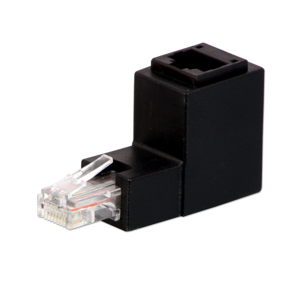 Right Angled Unshielded Rj 45 Adapter Up From Lindy Uk