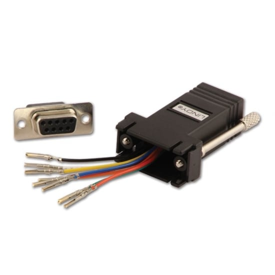 RJ-45 Female to 9 Way D Female Modular Adapter