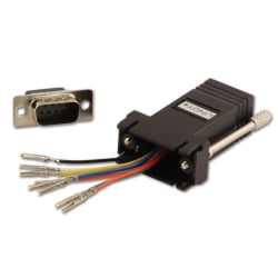 RJ-45 Female to 9 Way D Male Modular Adapter