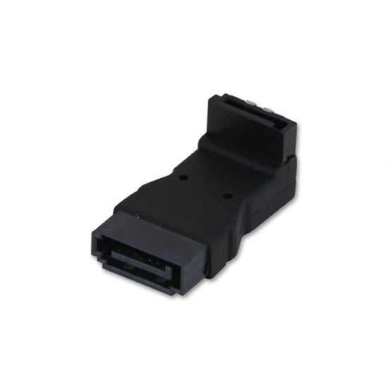 SATA 90 Degree Male to Female, L-Adapter