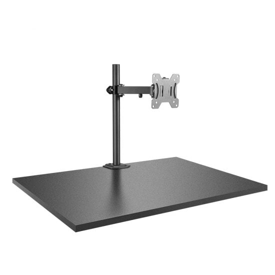 Single Display Bracket with Pole & Desk Clamp