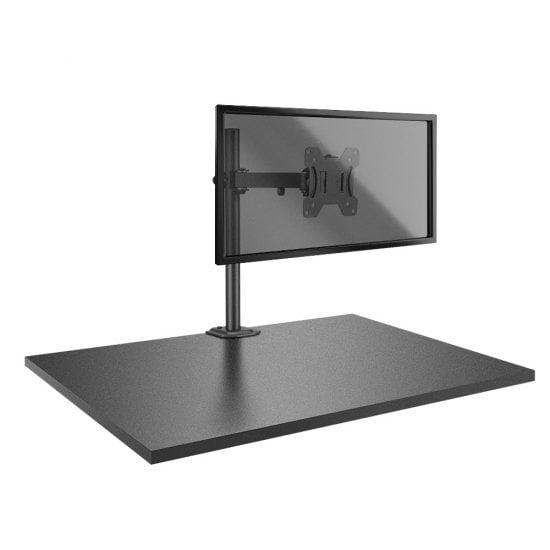 Single Display Bracket with Pole & Desk Clamp