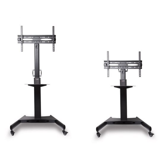 Single Display Mount Trolley Stand, Black