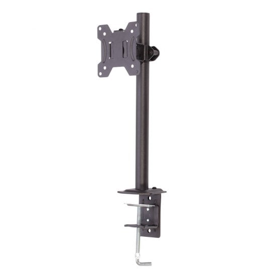 Single Display Short Bracket with Pole and Desk Clamp