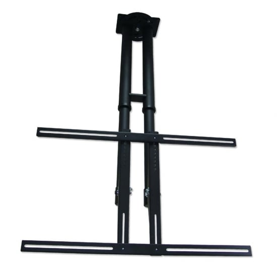 "LCD, LED and Plasma TV Ceiling Bracket Mount for up to 50kg / 60"" Screens, Black"