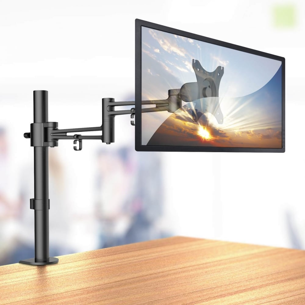 Merveilleux Single LCD Monitor Arm With Pole And Desk Clamp ...