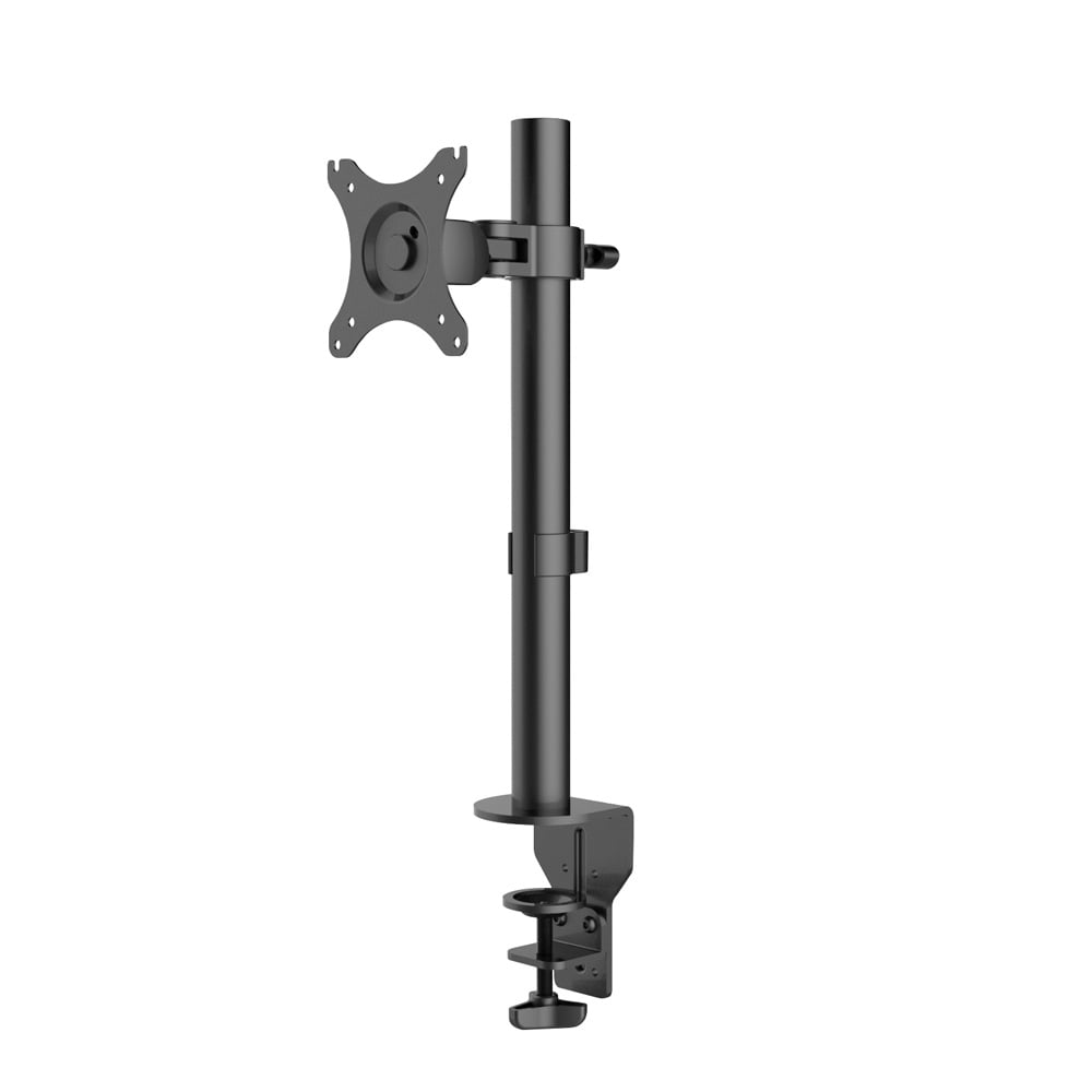 Single Lcd Monitor Bracket With Pole And Desk Clamp From