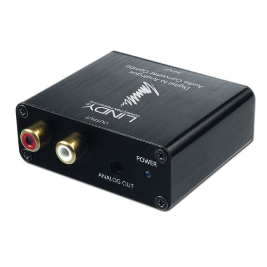SPDIF Digital to Analogue Stereo Audio Converter Combo