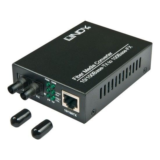 ST 10/100Base-TX to 100Base-FX Multi-mode Fibre Media Converter, 2km