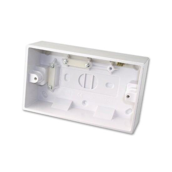 Surface Pattress Box, Double, Depth 44mm 1 pc