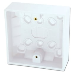 Surface Pattress Box, Single, Depth 32mm 10pcs