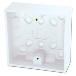 Surface Pattress Box, Single, Depth 32mm 10pcs