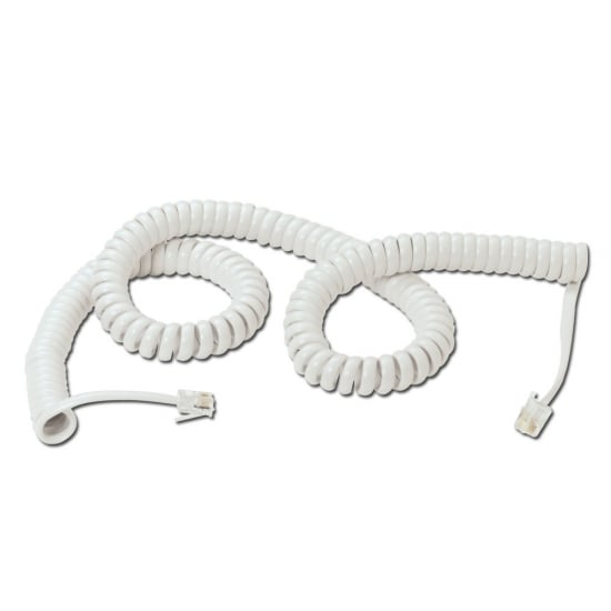 Telephone Handset Cable, White