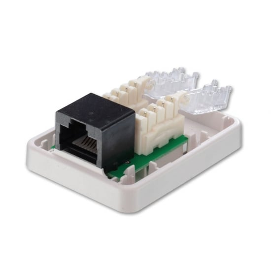 Toolless CAT6 Surface Mount Box