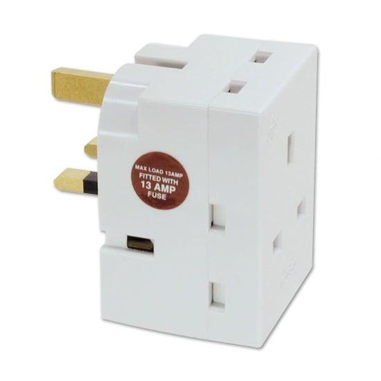 UK 3 Way Mains Adapter