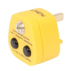 UK Anti-Static Earth Bonding Plug, 1 x Stud