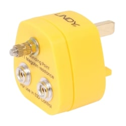 UK Anti-Static Earth Bonding Plug, 2 x Stud & 1 x M5 Post