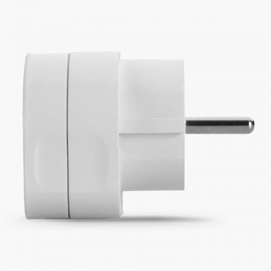 UK to Euro Adapter Travel Plug, White