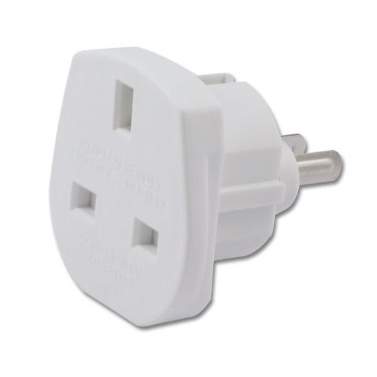 UK to US/Australian Adapter Travel Plug, White