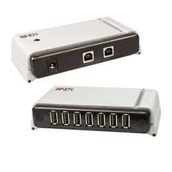 USB 2.0 CAT5 2 Port Switching Extender with 7 Port Hub, 100m