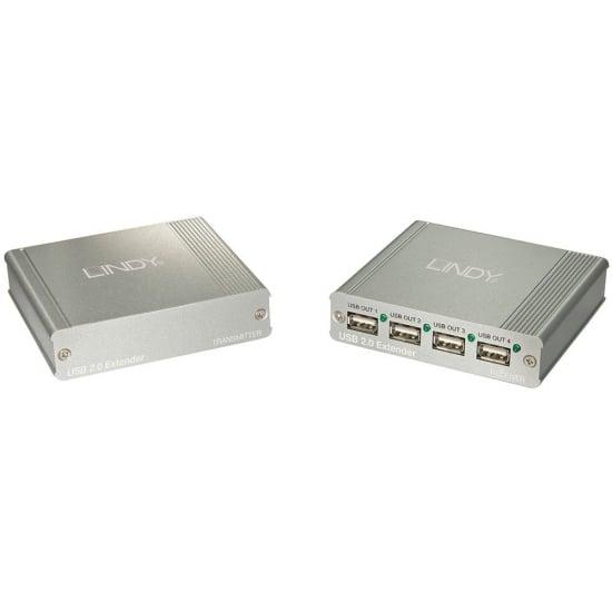 USB 2.0 Extension - 4 Port CAT5 USB 2.0 Extender Hub (up to 150m)