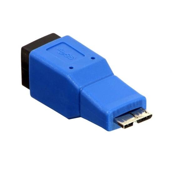USB 3.0 Adapter, USB B Female to Micro-B Male