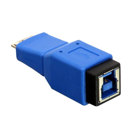 USB 3.0 Adapter, USB B Female to Micro-B Male