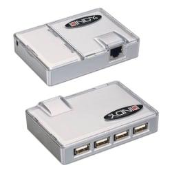 USB Extension - CAT5 USB Extender with 4 Port USB 1.1 Hub