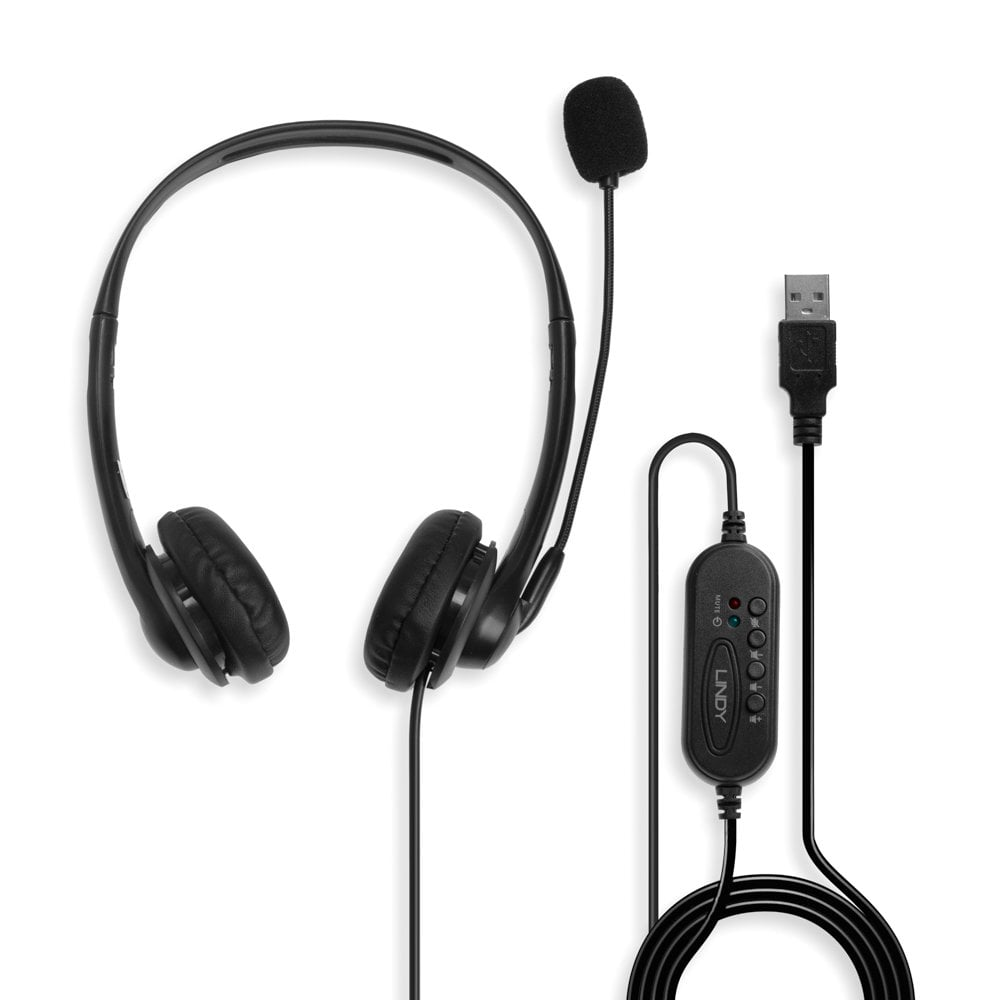 Usb Headset With Microphone From Lindy Uk