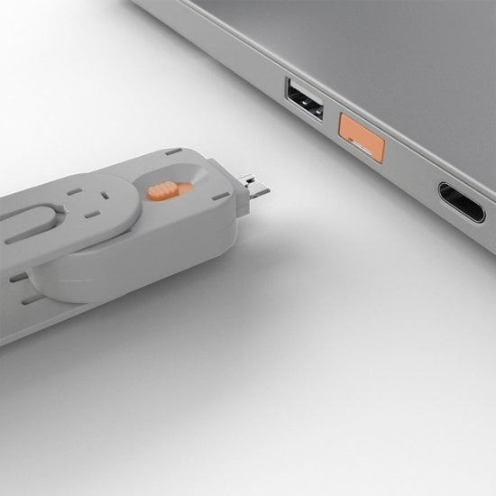 USB Port Blocker - Pack of 4 Colour Code: Orange