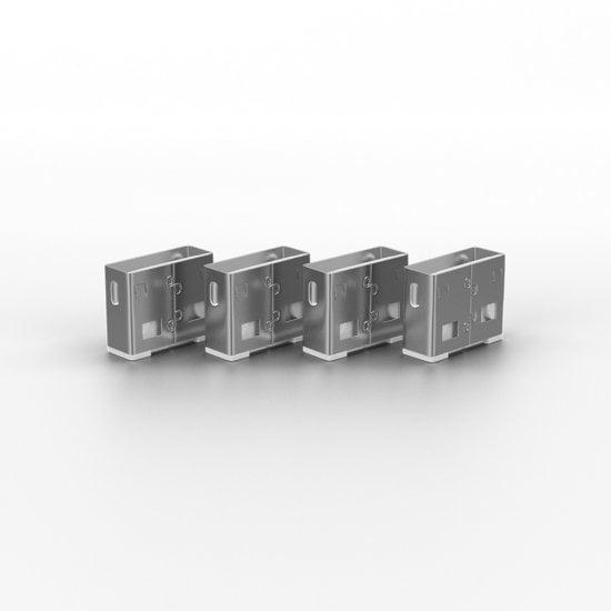 USB Port Blocker - Pack of 4, Colour Code: White