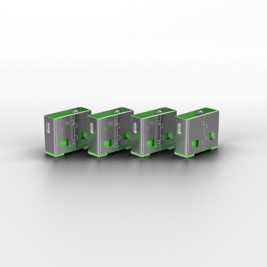 USB Port Blocker (without key) - Pack of 10, Colour Code: Green