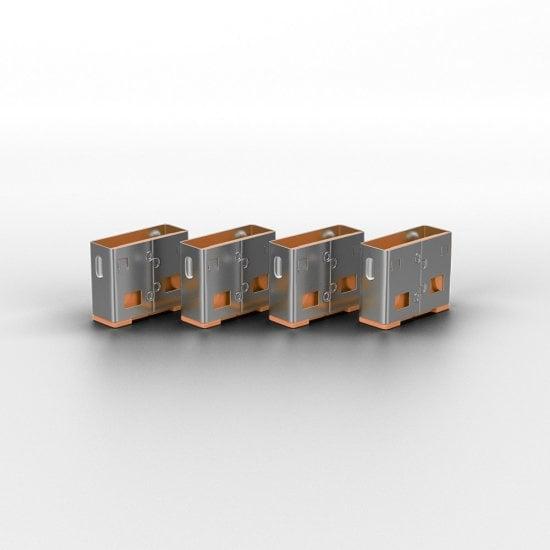 USB Port Blocker (without key) - Pack of 10, Colour Code: Orange