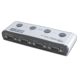 USB to Serial Adapter - 4 Port  (9 Way, RS-232)