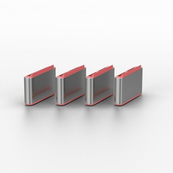 USB Type C Port Blocker Key - Pack of 4 Blockers, Pink