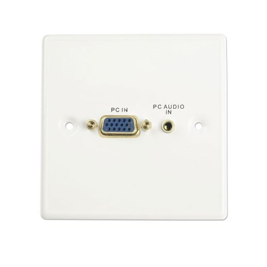 VGA/Audio Faceplate, Metal