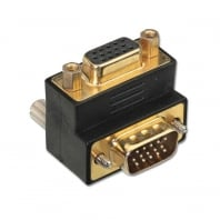 "VGA Male to VGA Female 90° Adapter ""Up"""